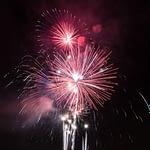 FIrework display lighting up the night sky on